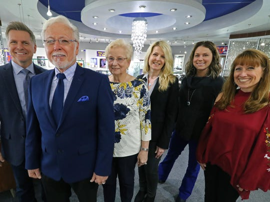 Three generations are active in the the Lyle Husar Designs business including Craig Husar (left), founders Lyle and Alice Husar, daughter-in-law Danielle Husar, granddaughter Becca Husar and Christine Husar-Anderson.