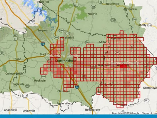 map of power outage for 6/4/15