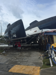 Luxury yachts litter roads in Road Town, Tortola's