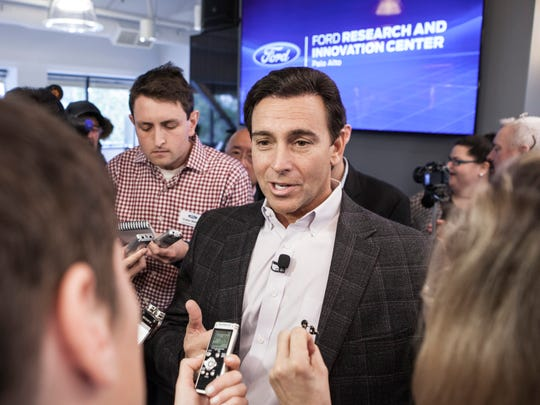 Ford president and CEO Mark Fields takes questions