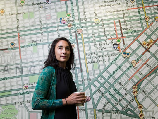 Waze co-founder Di-Ann Eisnor photographed at the Waze