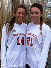 Two key returnees for the Northville girls soccer team