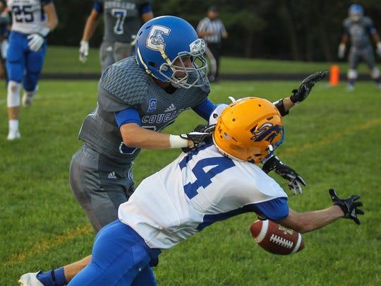 Conner defensive back Garrett Coghlan breaks up a pass