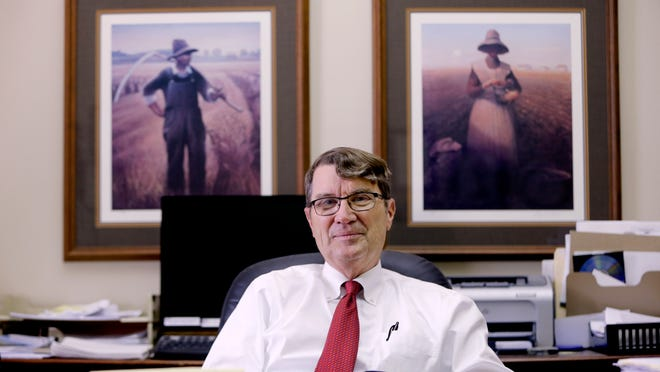 Attorney Phil Garland, shown at his State Street office in Garner, has been an advocate for recruiting young attorneys to practice in rural Iowa.