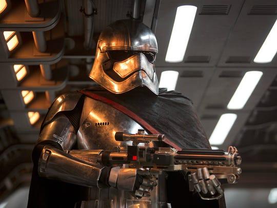 Gwendoline Christie as Captain Phasma in 'Star Wars: