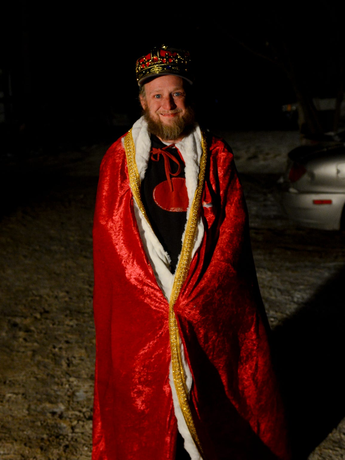 Last year's Sturgeon King Brian Bailey poses for a