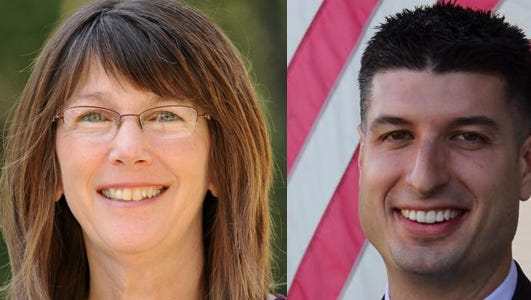 Incumbent Democratic state Rep. Theresa Abed, left, and Republican challenger Tom Barrett, right, are in a close race for the 71st state House District.
