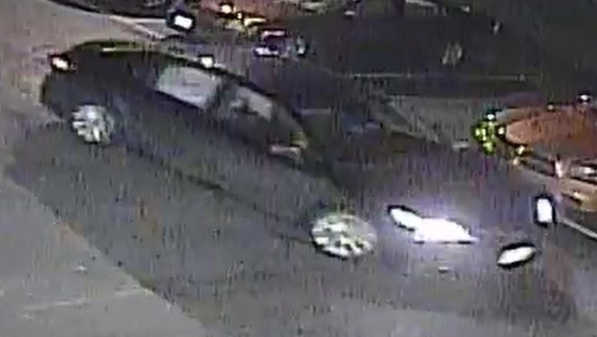 Police are searching for this car and individuals suspected of shooting at another vehicle outside the Hideaway Tavern in Clementon.
