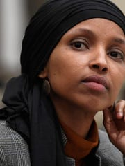 A man was charged with placing a threatening call to the Washington office of U.S. Rep. Ilhan Omar of Minnesota.