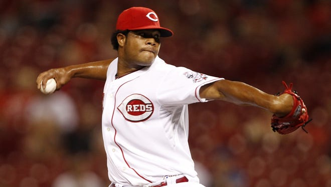 Daniel Corcino had a 24th birthday he'll never forget, making his big-league debut for the Reds.
