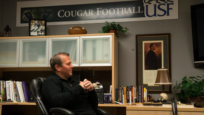 Former USF football coach Jed Stugart was named head coach at Lindenwood University in St. Charles, Mo. on Monday.