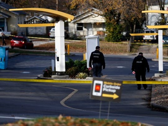 Springfield police investigate the scene of a homicide at the McDonald's on West Kearney Street on Nov. 21, 2017.