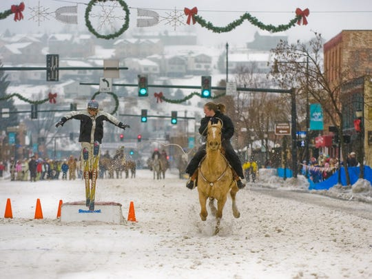 Kids will get a kick out watching skijoring at Steamboat Springs' many winter festivals.