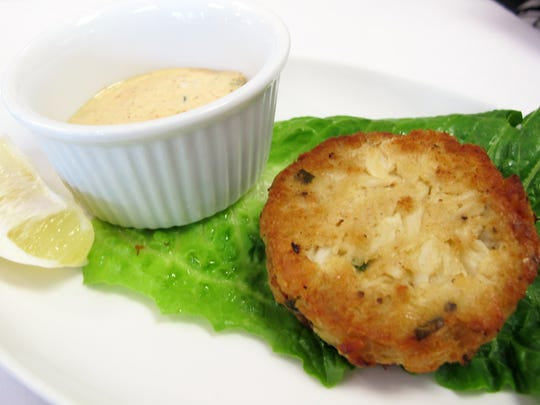 Fried jumbo lumb crab cake at Charlie's Seafood & Pub off Immokalee Road in North Naples.