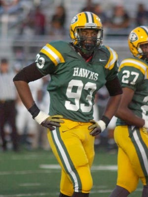 Khalid Kareem was a major force for Harrison's stingy defense. He was drafted in the 5th round by the Cincinnati Bengals.