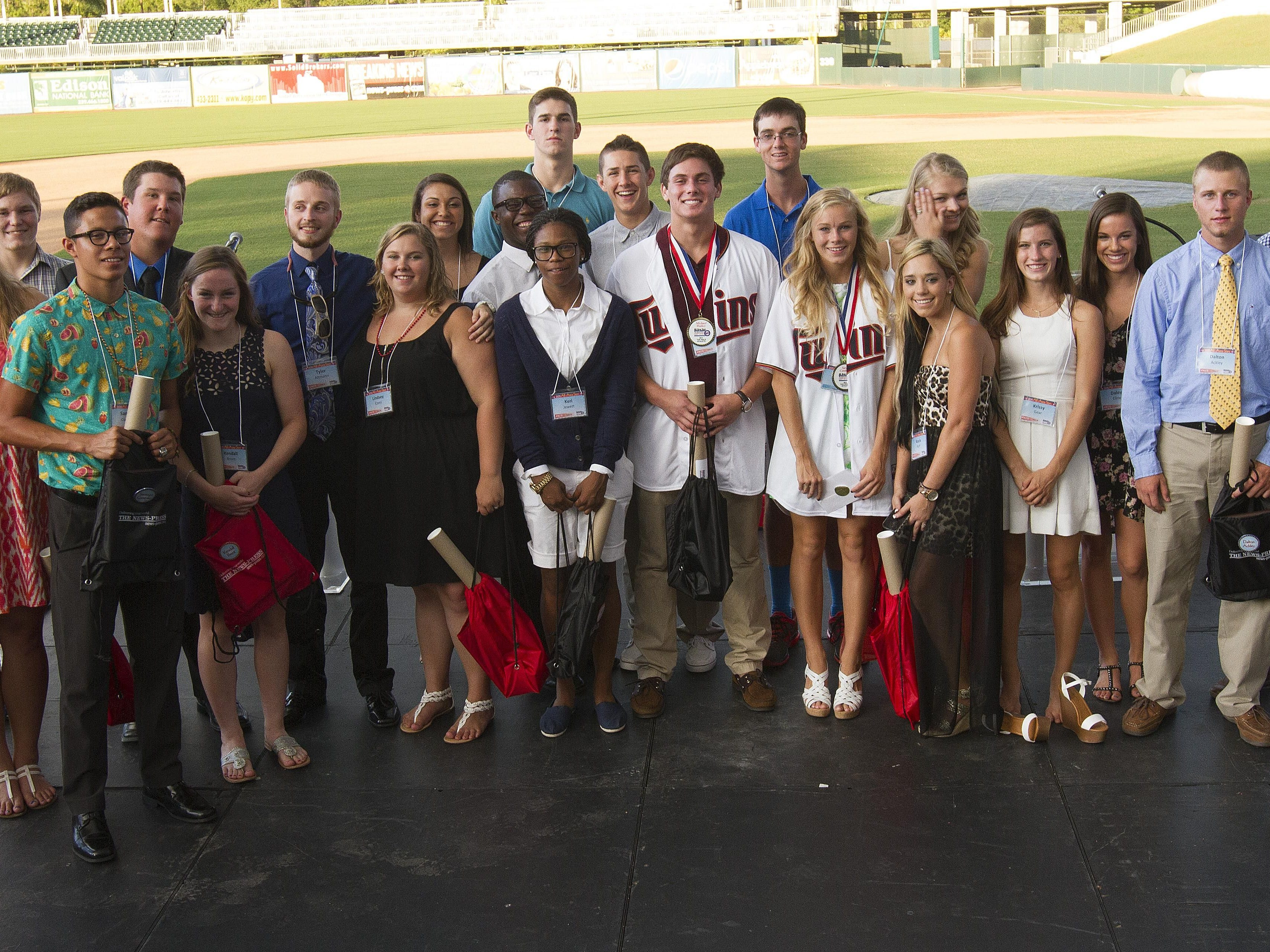 The All-Area Stars winners gather at the fifth annual banquet.