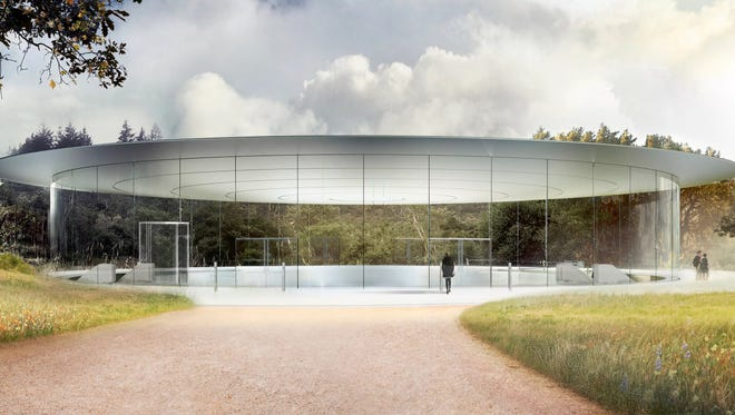 The Steve Jobs Theater at Apple Park, which will open later this year.