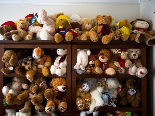 Teddy Bears donated to Valerie's House by John Sheppard