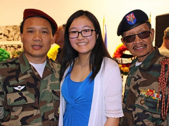Teresa Ngo, (center) scholarship winner, and members