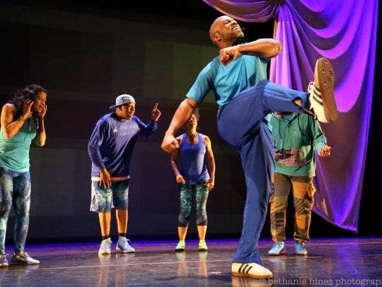 In the multimedia performance /peh-LO-tah/, Marc Bamuthi