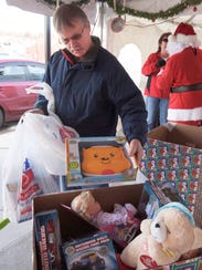 Bob Thompson of Wrightsville drops off a donation of