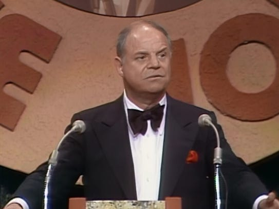 Don Rickles, shown on the dais during a Dean Martin celebrity roast, was the master of the comic put-down.