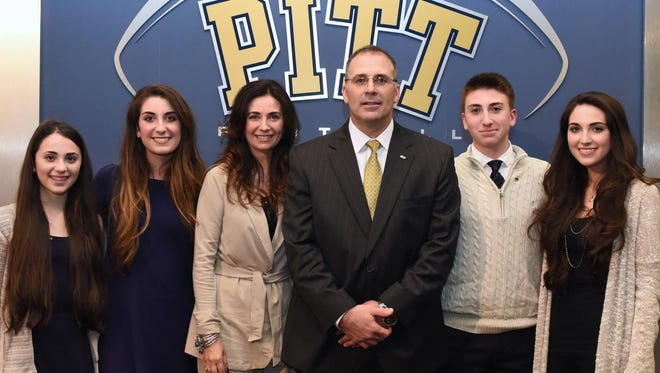 The Narduzzi family, from left: daughters Isabella and Arianna, mother Donna, father Pat, son Patrick Jr. and daughter Christina.