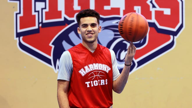 Bryan Urrutia is a standout on the lHarmony Science Academy basketball team.