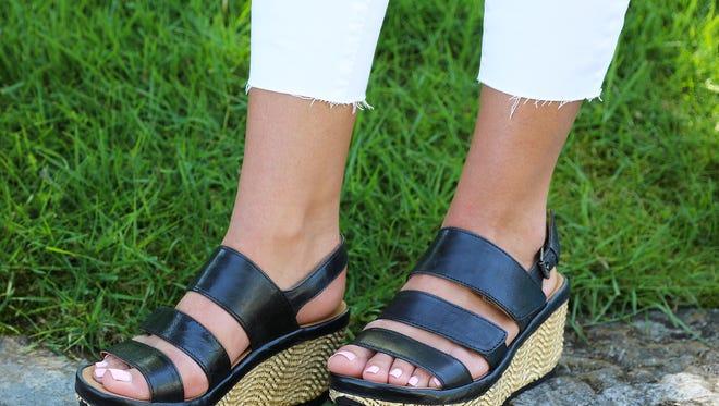Ankle and cropped pants are trendy hemlines this summer.