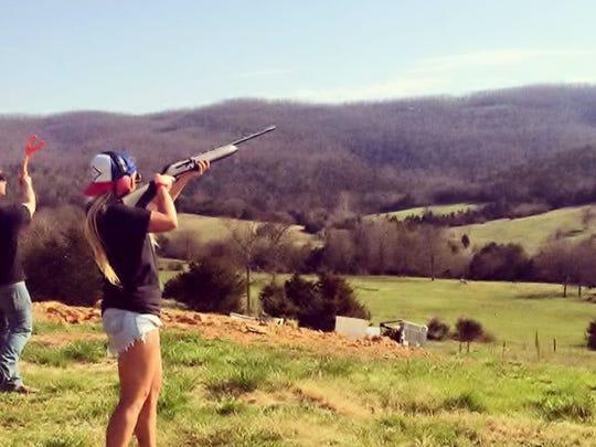 Kelsie likes the outdoors and shooting skeet.