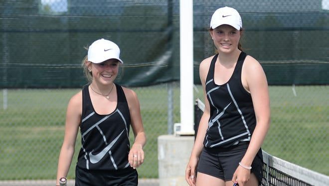 Fossil Ridge's Erinn Hogan and Lindsey Noble are on the Coloradoan's All-Area girls tennis team.