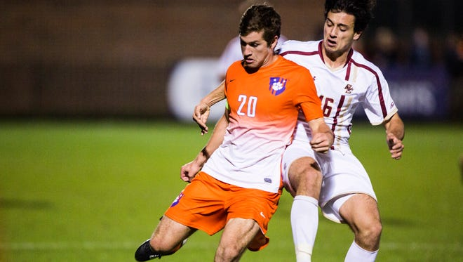 Clemson senior Austen Burnikel scored twice to key Tigers over Albany.