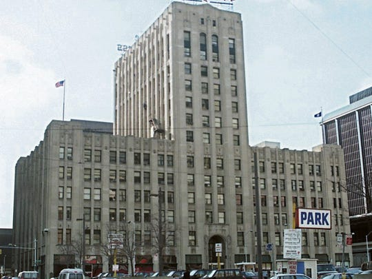 The Detroit Free Press building as it once looked.