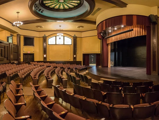 The interior of the Franke Center for the Arts in Marshall.