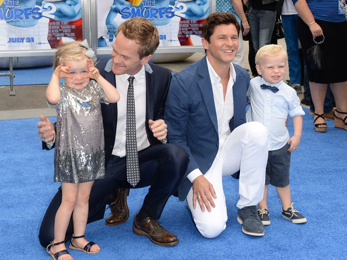 Neil Patrick Harris and David Burtka make the best dads for their fraternal twins, 3-year-olds Harper Grace and Gideon Scott. The adorable family delights fans with elaborate themed Halloween costumes each year.