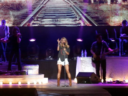 Carrie Underwood performs during the Faster Horses