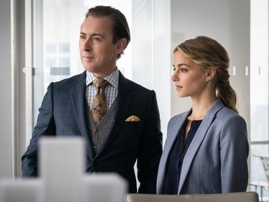 Alan Cumming and Bojana Novakovic are partners on CBS