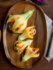 "Find this stuffed squash blossoms recipe in ""Cooking"