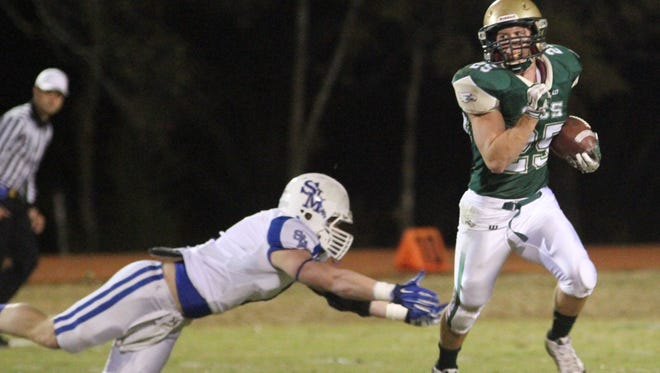 Junior running back Josh Pennbaker has six touchdowns in his last two games for OCS. The Eagles face No. 5 Southern Lab for the Division IV championship Friday at 10 a.m. in New Orleans.