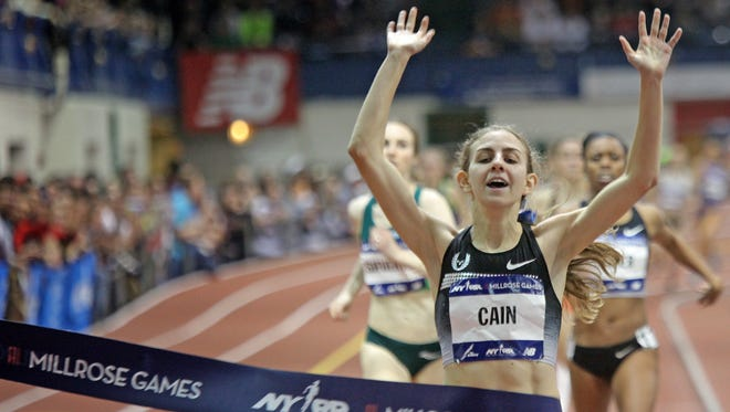 In 2014, Mary Cain won the Wanamaker Mile at the Millrose Games at the Armory in New York City.