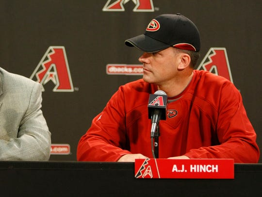 Josh Byrnes and new Arizona Diamondbacks manager A.J.