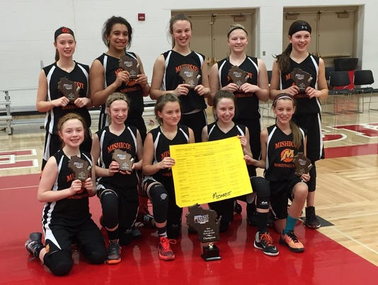Mishicot seventh-grade girls basketball club