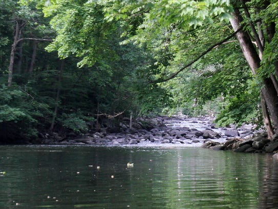 A section of the Croton River goes from fast moving