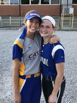 Castle's Hannah Tolley (left) and Memorial's Molly Jillson (right).