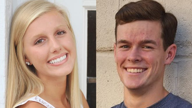 Ellie Mueller and Carson Mara from Little Chute High School are this week's top scholars.