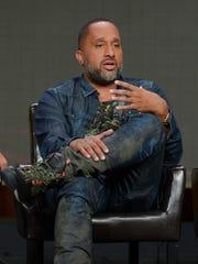 "Kenya Barris at the ABC ""black-ish"" panel on Aug. 4,"