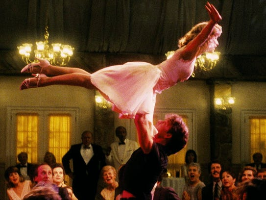 Jennifer Grey and Patrick Swayze in a scene from the
