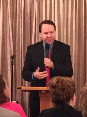 U.S. Rep. Pat Tiberi at a Richland Area Chamber of Commerce legislative luncheon in Mansfield Thursday.