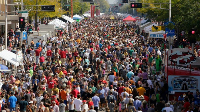 Big crowds are expected for Saturday's Octoberfest along College Avenue in downtown Appleton. An estimated 100,000 people annually take in the fall festival.