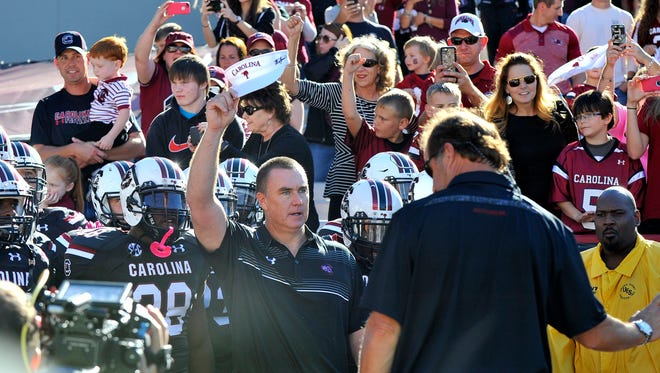 USC interim head coach Shawn Elliott and the Gamecocks will undergo tighter security at home games.